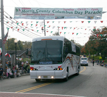 Villanis Bus at the Morris County Columbus Day Parade.